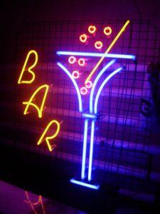 Neony świetlne Bar