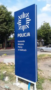 pylon z dibondu-Policja