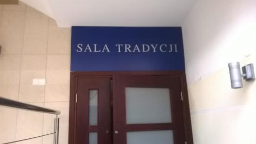 sala tradycji - tablica