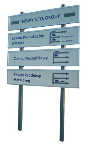 tablice w ramach aluminiowych